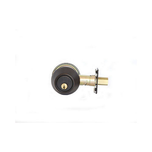 MaxGrade 65011H Double Cylinder Deadbolt Aged Bronze Finish with Adjustable Latch and Square Strike