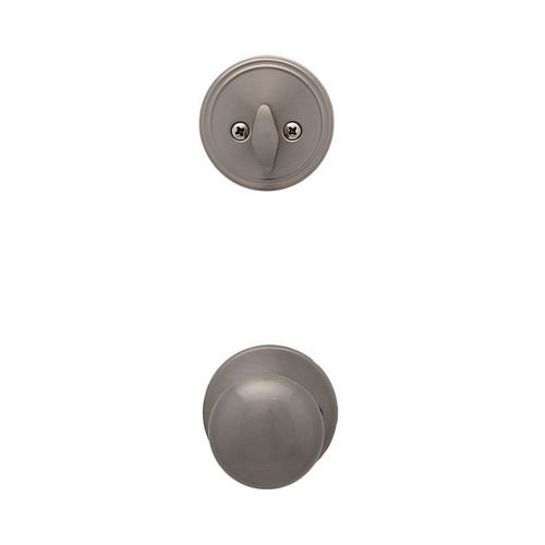 MaxGrade 850OXF15 Oxford Ball Style Active Interior Trim Satin Nickel Finish with Adjustable Latch and Combo Full Lip Strikes