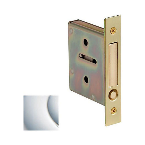 Baldwin 8601260 Pocket Door Pull for Passage and Dummy Bright Chrome Finish