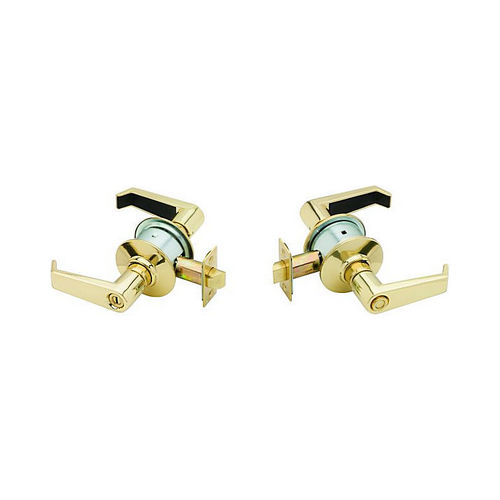 Schlage A40LEV605 A Series Privacy Levon Lock with 11116 Latch 10001 Strike Bright Brass Finish