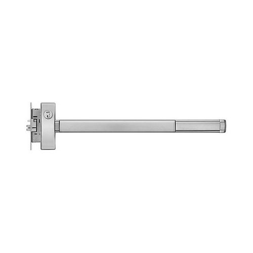 PHI FL23146283 Fire Rated 3' Apex Mortise Wide Style Exit Only Device for Active Lever/Knob Trim Aluminum Finish