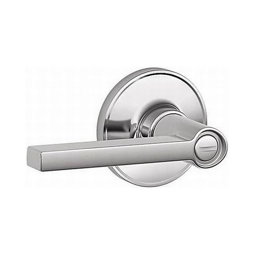 Schlage J Dexter Series J40PSOL625 Privacy Lock Solstice Bright Chrome Finish with Adjustable Latch and Radius Strike