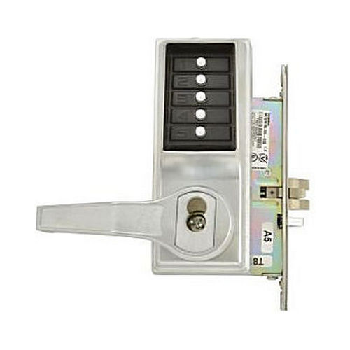 Simplex L8146B26D Left Hand Mechanical Pushbutton Lever Mortise Lock with Best Prep Satin Chrome Finish
