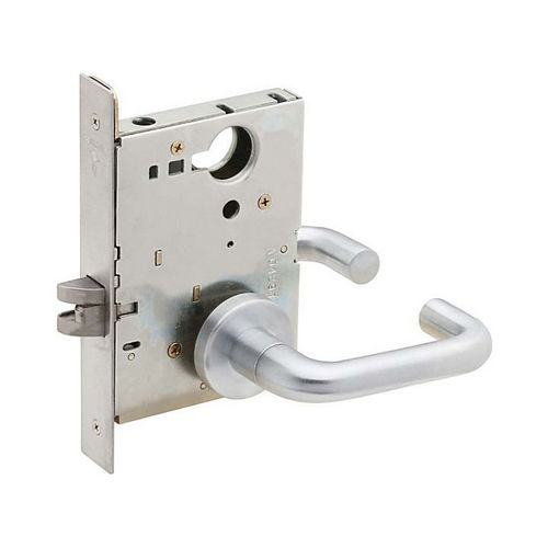 Schlage Commercial L901003A626 Passage Latch Mortise Lock with 03 Lever and A Rose Satin Chrome Finish