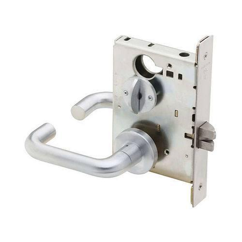 Schlage Commercial L904003A626 Bed / Bath Privacy Mortise Lock with 03 Lever and A Rose Satin Chrome Finish