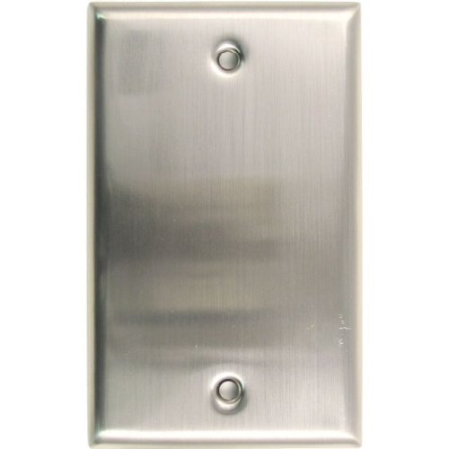 Rusticware 780SN Single Blank Switch Plate Satin Nickel Finish