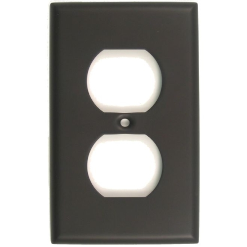 Rusticware 783ORB Single Outlet Switch Plate Oil Rubbed Bronze Finish