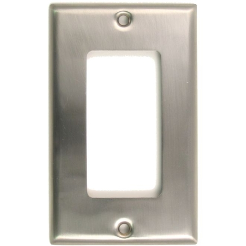 Rusticware 784SN Single Rocker Switch Plate Satin Nickel Finish