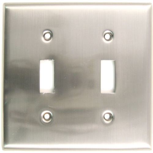 Rusticware 785SN Double Toggle Switch Plate Satin Nickel Finish
