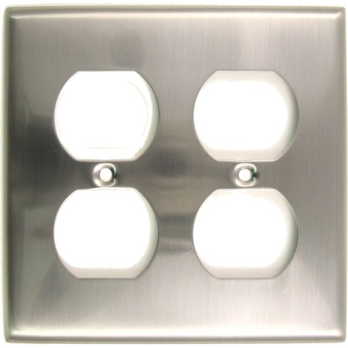 Rusticware 786SN Double Outlet Switch Plate Satin Nickel Finish