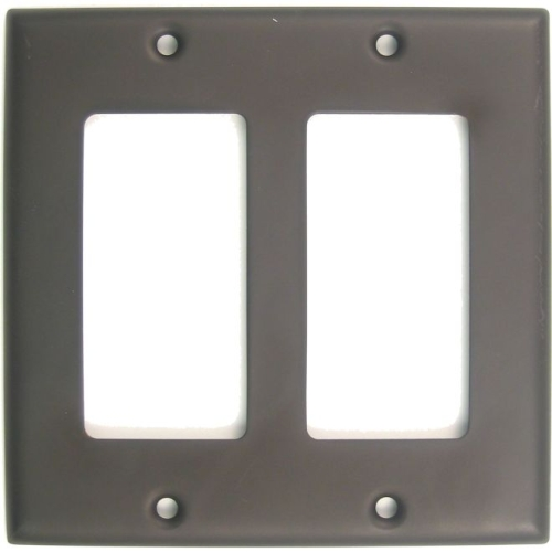 Rusticware 787ORB Double Rocker Switch Plate Oil Rubbed Bronze Finish