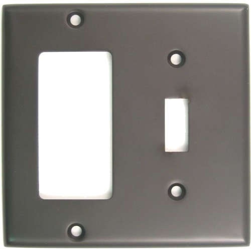 Rusticware 788ORB Double Rocker and Toggle Switch Plate Oil Rubbed Bronze Finish