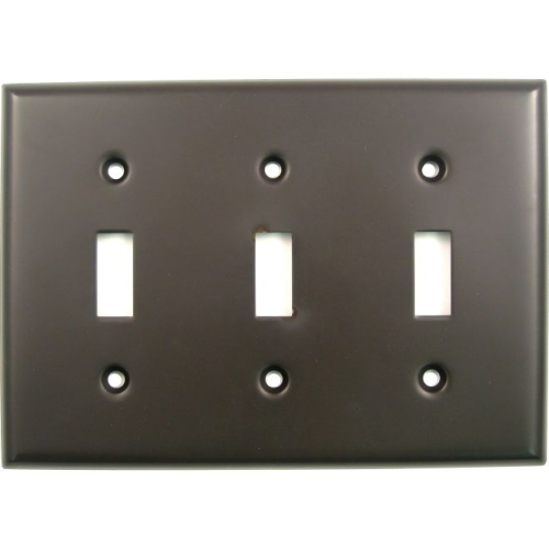 Rusticware 789ORB Triple Toggle Switch Plate Oil Rubbed Bronze Finish