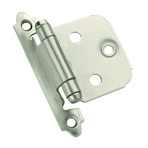 Amerock BPR3429G10 Variable Overlay Self Closing Face Mount Cabinet Hinge 2 Pack Satin Nickel Finish