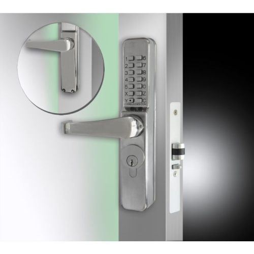 Codelock CL465SS Narrow Stile Keypad Codelock with Code Free Option Stainless Steel Finish