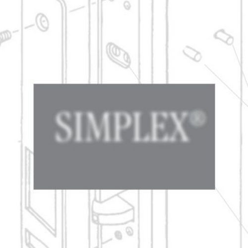 Simplex R8146B26D Right Hand Mechanical Pushbutton Lever Mortise Combination Entry Passage Lockout with Key Override, Best Prep Satin Chrome Finish