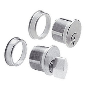 CRL DRA1020BS Keyed Cylinder and Thumbturn Combo, Brushed Stainless