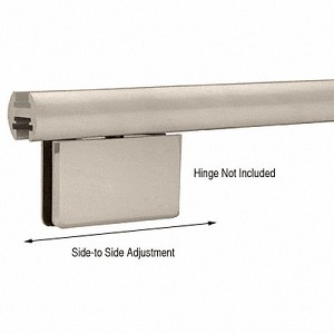 CRL EHK98BNEXTEZ-Adjust Shower Door Header Only, Brushed Nickel