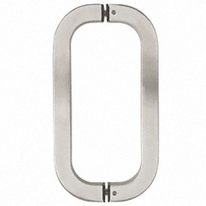 "CRL RST24X24BS Tube Style BTB Pull Handle 24"", Brushed Stainless"