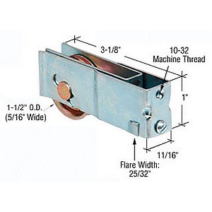 "CRL D1952 Sliding Glass Door Roller with 11/16"" Housing for Daryl Doors"
