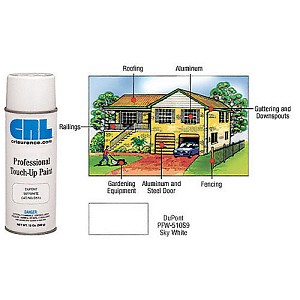CRL D510 Sky White Powdercoat Professional Touch-Up Paint