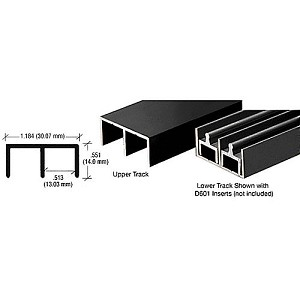 CRL D603BL Standard Upper or Lower Channel, Flat Black