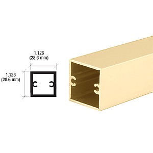 CRL D630BGA Square Tubing For Partition Post, Brite Gold Anodized