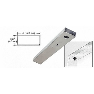 CRL DCH4SAS Single Door Header, Satin Anodized