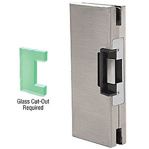 CRL DLEL410BS LH/RHRCenter Lock Glass Keeper, Brushed Stainless