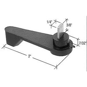 "CRL E2191 Latch Lever with 3/8"" Spindle for Arcadia Doors, Black"
