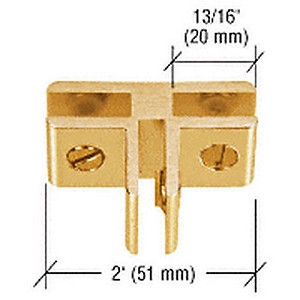 CRL E314GA 3-Way Glass Connector, Gold Anodized