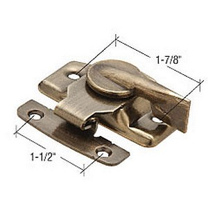 "CRL F2566 Window Sash Lock with 1-7/8"" Screw Holes, Antique Brass"