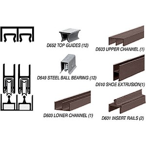 CRL D2301DUBB Deluxe Track Assembly D603 Upper and D601 Rail with Ball Bearing Wheels