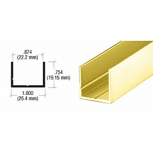 CRL D336BGA Single U Channel, Brite Gold Anodized