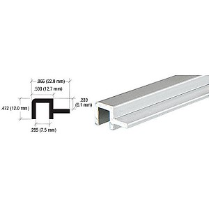 CRL D3112A Front Top Rail Extrusion