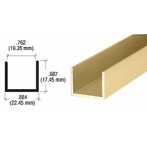CRL D327GA U Channel, Gold Anodized