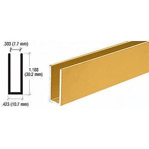 CRL D626GA Channel Extrusion, Gold Anodized
