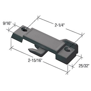 "CRL F2512 Sliding Window Lock with 2-1/4"" Screw Holes for Guaranteed Products Windows, Black"
