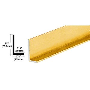 CRL D317GA L-Bar Extrusion, Gold Anodized