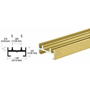 CRL D592GALower Track, Gold Anodized