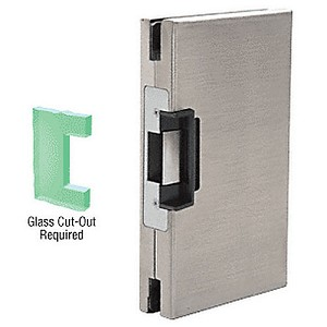 CRL DLER610BS RH/LHR Center Lock Glass Keeper, Brushed Stainless