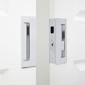 "Cavity Sliders CL400D0043 CaviLock 1-3/4"" Thick Double Door - Privacy Emergency/Snib, Bright Chrome"
