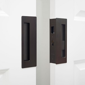 "Cavity Sliders CL400D0243 CaviLock 1-3/4"" Thick Double Door - Privacy Emergency/Snib, Oil Rubbed Bronze"