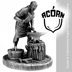 Acorn BHUJI Top Mount Low Wheel & Carrier Assembly SS - Smooth