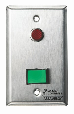 "Alarm Controls SLP-1M Monitoring/Control Station Single Gang Stainless Steel 1Ea Dsw-3 III Gn 12V 1Ea 1/2"" Red LED"