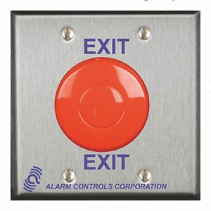 Alarm Controls TS-50B Push Button with Black Mushroom