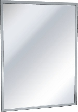"ASI 0620-8422 Chan-Lok Mirror, 84"" w x 22"" h, Stainless Steel"