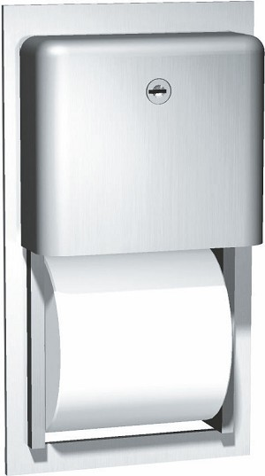 ASI 9031 Profile Collection Toilet Tissue Dispenser, Twin Roll, Recessed