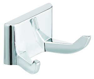 Bradley 932-000000 Robe Hook, Double, Polished Chrome