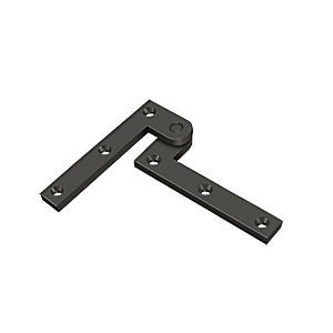 "Deltana PH35U10B Pivot Hinge 3-7/8"" x 5/8"" x 1/4"", Oil Rubbed Bronze (Pair)"